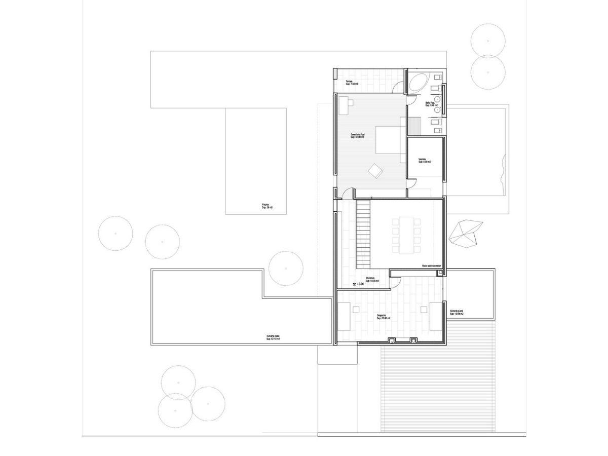 Casa Ramas, situada en Cotos de Monterrey (Madrid). Un proyecto del estudio de arquitectura FH2L Arquitectos