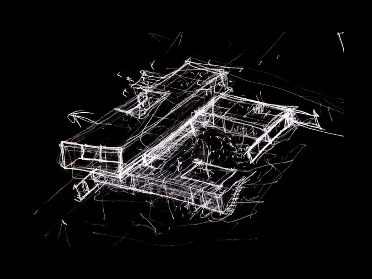 Croquis Casa Ramas, situada en Cotos de Monterrey (Madrid). Un proyecto del estudio de arquitectura FH2L Arquitectos
