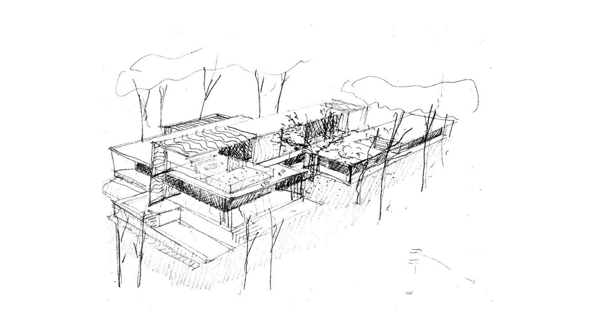 Croquis 3 Viviendas Unifamiliares en Encinas, Boadilla del Monte, Madrid. Un proyecto del estudio de arquitectura FH2L Arquitectos.