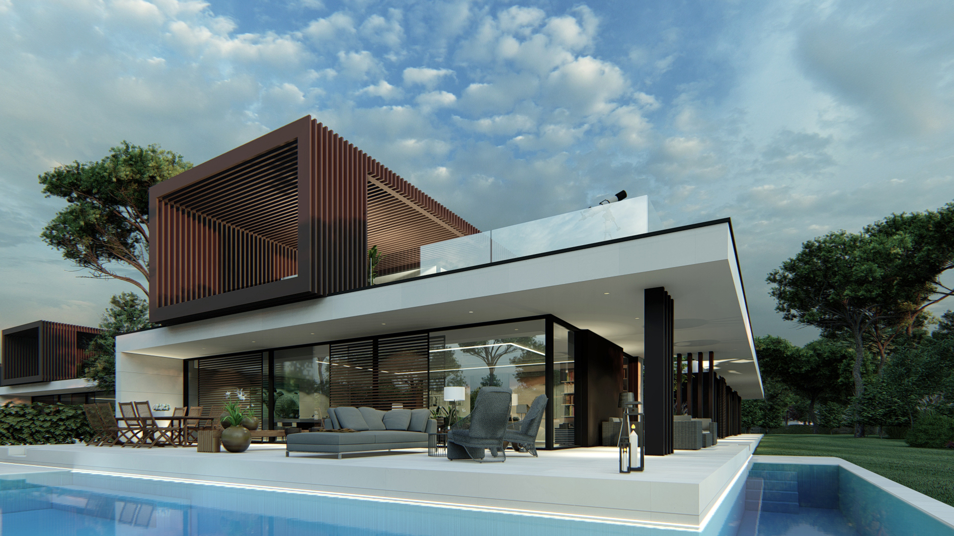 3 Viviendas Unifamiliares en Encinas, Boadilla del Monte, Madrid.Un proyecto del estudio de arquitectura FH2L Arquitectos.
