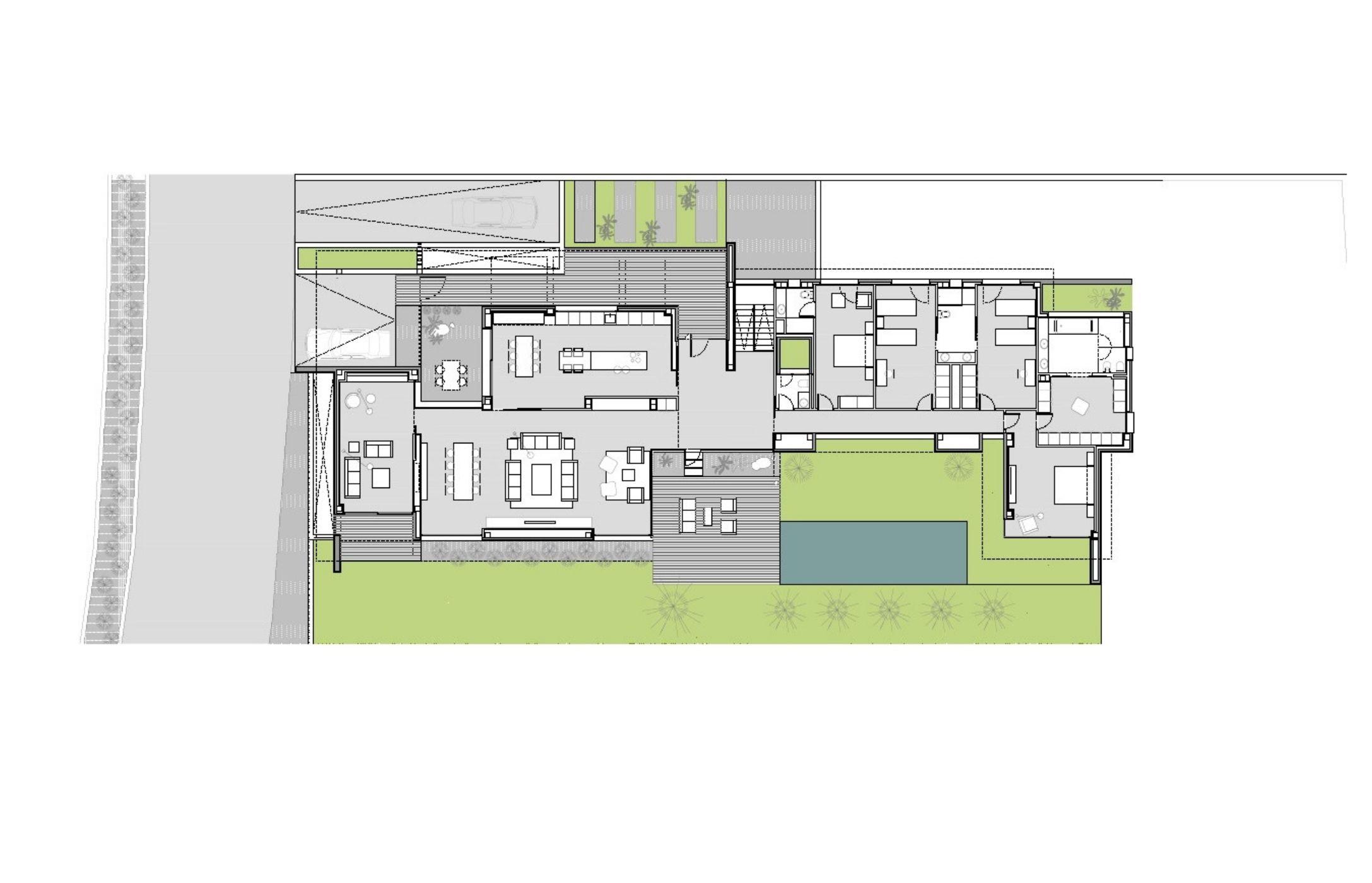 Conjunto integrado de 14 viviendas unifamiliares . Urbanización Valdecabañas, Boadilla del Monte, Madrid. Proyecto de FH2L Arquitectos