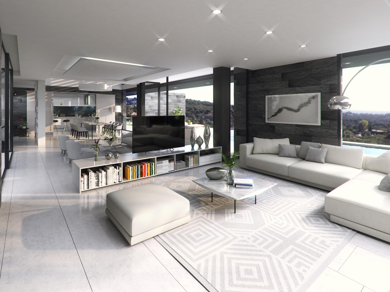 Proyecto de el estudio de arquitectura FH2L Arquitectos de vivienda unifamiliar en Benahavís, Málaga