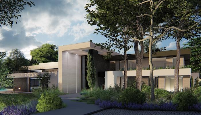 Vivienda unifamiliar, proyecto del estudio de arquitectura FH2L Arquitectos en Las Lomas, Boadilla del Monte, Madrid.