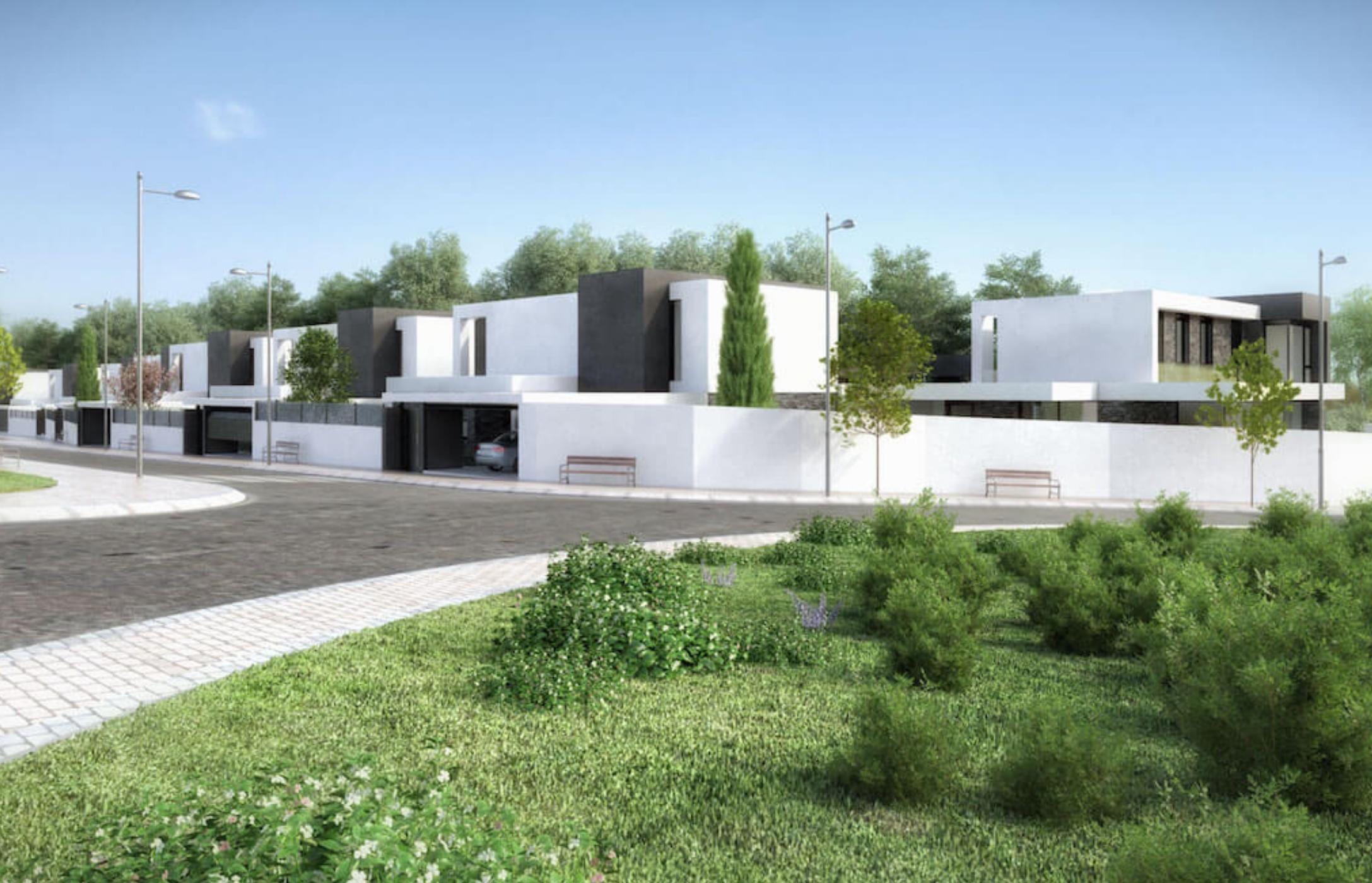 15 viviendas unifamiliares adosadas en Boadilla del Monte, Madrid. Proyecto de FH2L Arquitectos