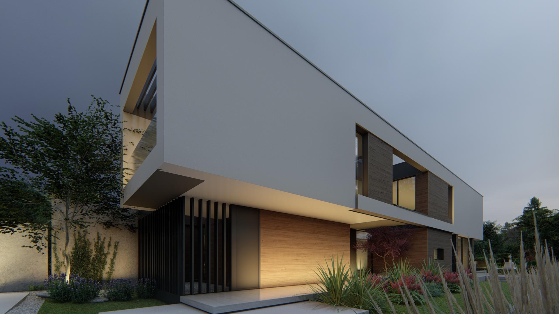 2 viviendas pareadas en Valdemarín (Madrid). Proyecto de FH2L Arquitectos.