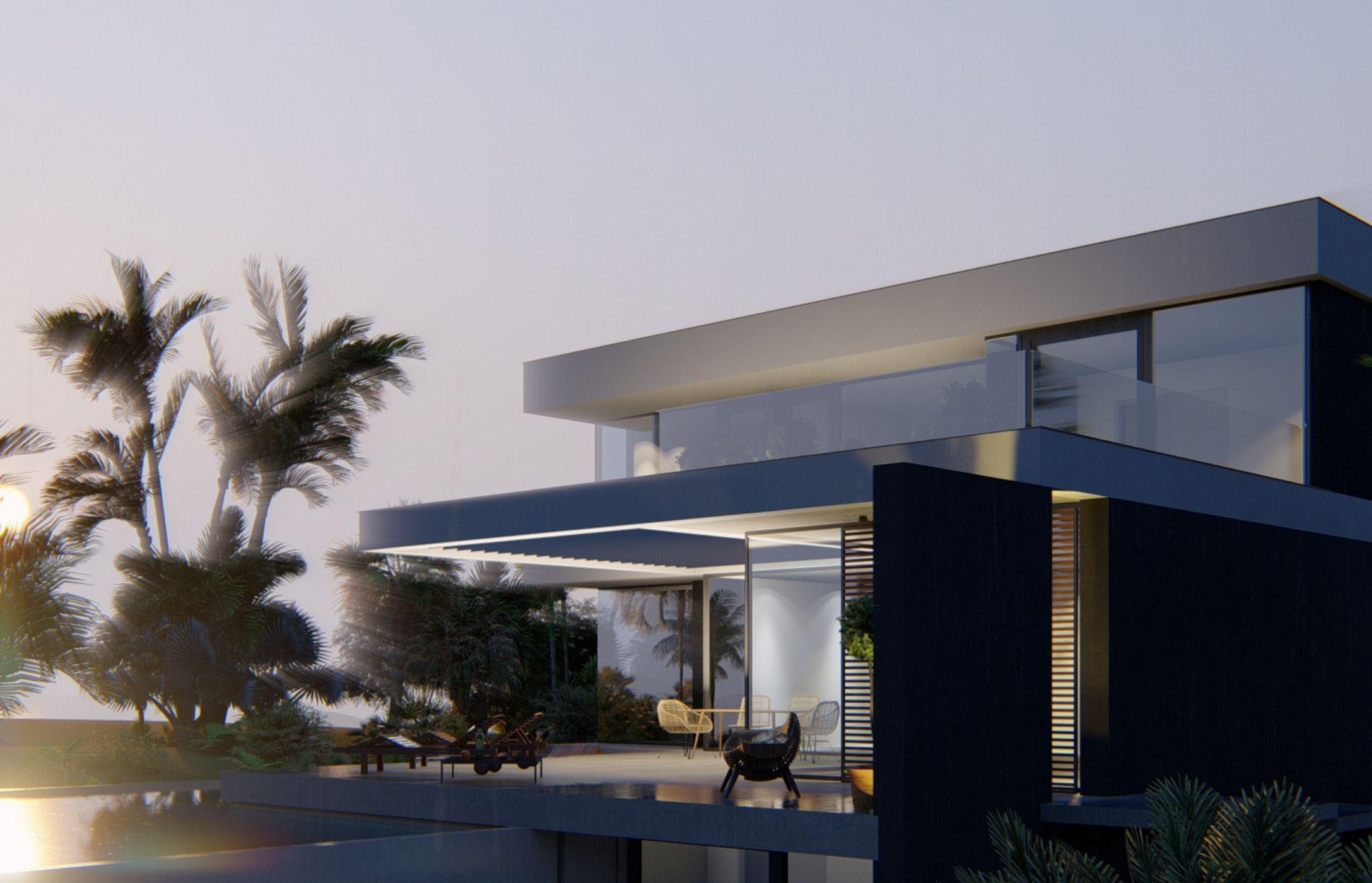 Vivienda unifamiliar + piscina en Urb La Alcaidesa (Málaga). Un proyecto de FH2L Arquitectos
