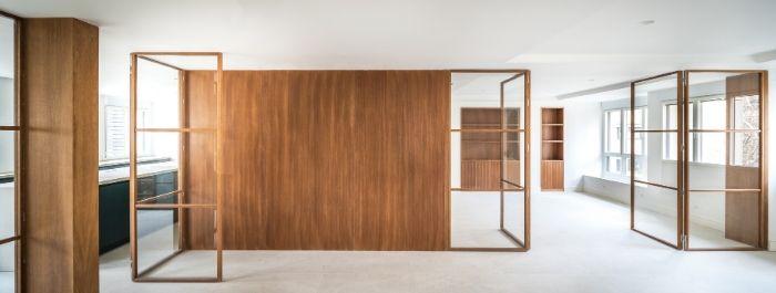 Proyecto del estudio de arquitectura FH2L Arquitectos de una reforma integral de un piso en la c/ Padre Damián (Madrid).