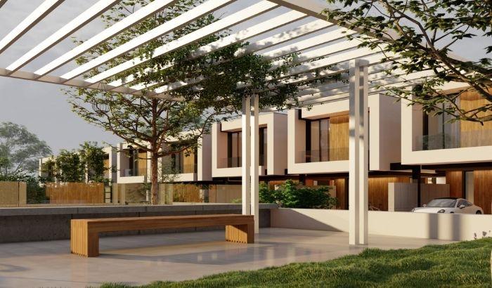 BALTUM conjunto integrado de 34 viviendas adosadas en El Pastel, Boadilla del Monte (Madrid). Un proyecto del estudio de arquitectura FH2L Arquitectos